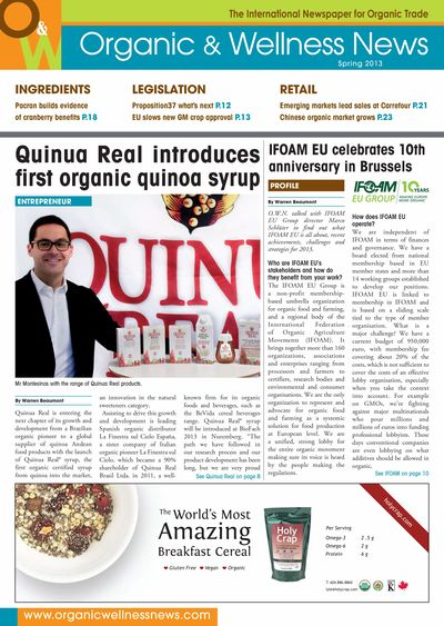 Quinua Real launches first organic quinoa syrup